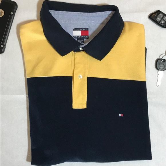 79b886085 Vintage Tommy Hilfiger Color Block Polo. M_5a8b692936b9de14b3da885d